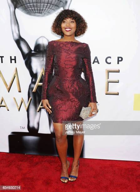 Actress DeWanda Wise arrives at the 48th NAACP Image Awards at Pasadena Civic Auditorium on February 11 2017 in Pasadena California
