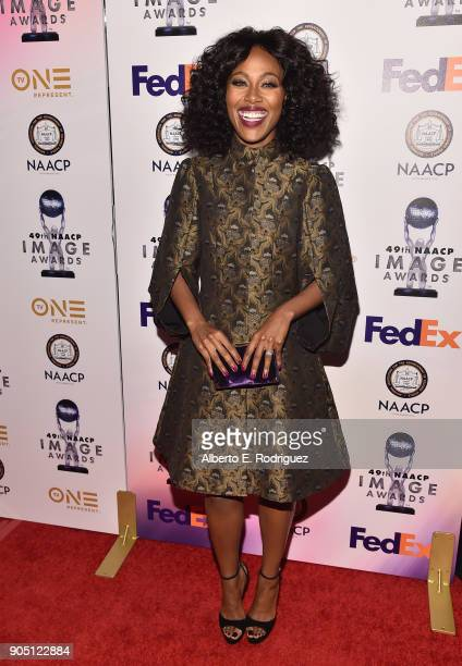 Actress DeWanda Wise attends the 49th NAACP Image Awards NonTelevised Award Show at The Pasadena Civic Auditorium on January 14 2018 in Pasadena...