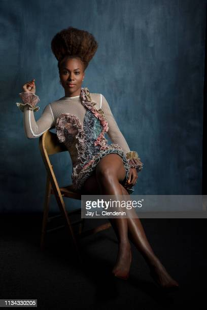 Actress DeWanda Wise from 'The Twilight Zone' is photographed for Los Angeles Times on March 24 2019 during PaleyFest at the Dolby Theatre in...