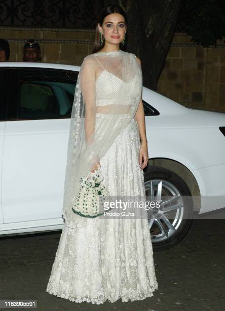 Actress Dia Mirza attends the Diwali Bash hosted by Actress Sonam Kapoor on October 27 2019 in Mumbai India
