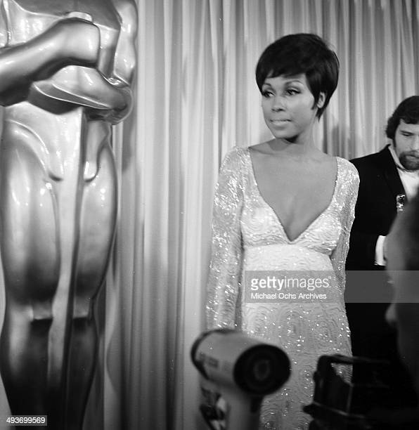 Actress Diahann Carrol attends the Academy Awards in Los Angeles California
