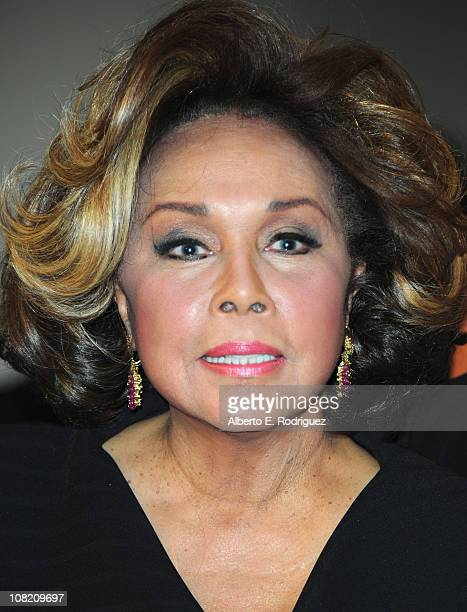 Actress Diahann Carroll arrives to the Academy of Television Arts Sciences' Hall of Fame Committe's 20th Annual Induction Gala on January 20 2011 in...