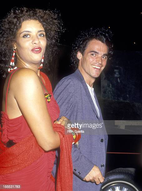 Actress Diahnne Abbott and date attend The Untouchables New York City Premiere on June 2 1987 at Loews Astor Plaza in New York City