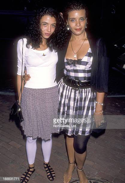 Actress Diahnne Abbott and daughter Drena De Niro attend the 1990 Crystal Apple Awards on July 30 1990 at Gracie Mansion in New York City