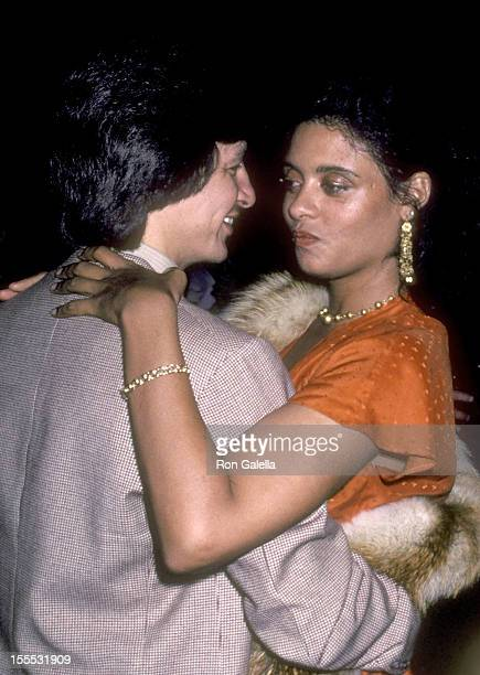 Actress Diahnne Abbott and guest attend the Atlantic City Hollywood Premiere Party on April 2 1981 at Florentine Gardens in Hollywood California