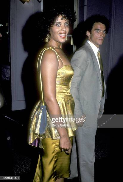 Actress Diahnne Abbott and guest attend the Stayin' Alive Hollywood Premiere Party on July 11 1983 at The Hollywood Palace in Hollywood California