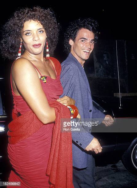 Actress Diahnne Abbott and guest attend The Untouchables New York City Premiere on June 2 1987 at the Loews Astor Plaza in New York City