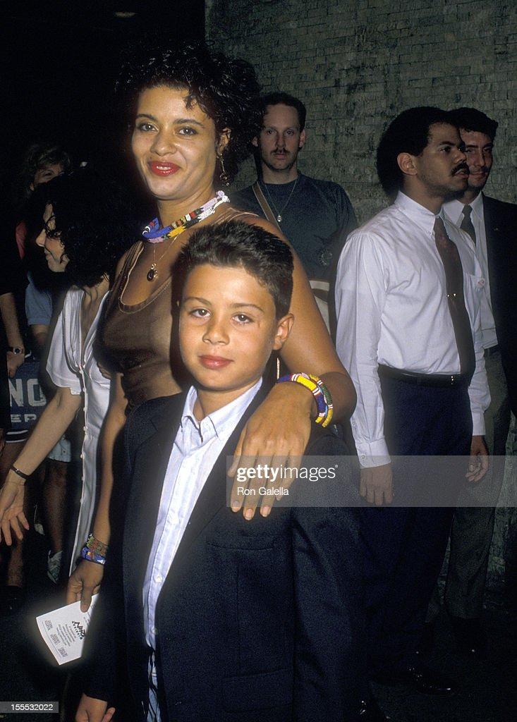 Actress Diahnne Abbott and son Raphael De Niro attend the ...
