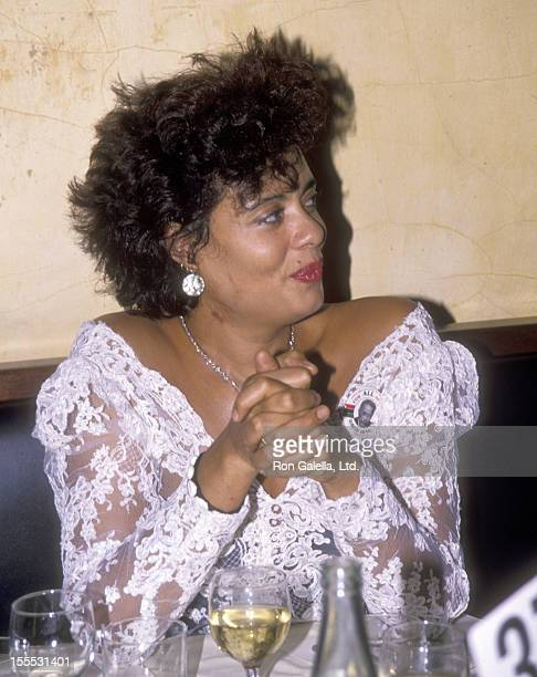 Actress Diahnne Abbott attends the Fundraiser Benefit for New York City Mayor Candidate David Dinkins on October 26 1989 at Club MK in New York City