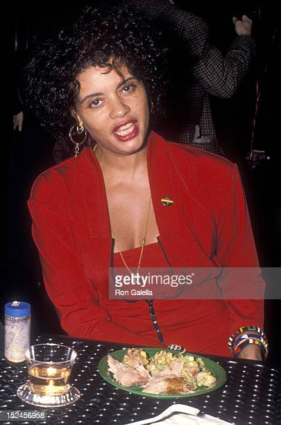 Actress Diahnne Abbott attends the The January Man Premiere Party on January 9 1989 at the Wollman Skating Rink Central Park in New York City