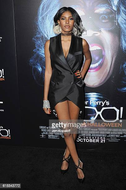 Actress Diamond White arrives at the Los Angeles Premiere Boo A Madea Halloween at ArcLight Cinemas Cinerama Dome on October 17 2016 in Hollywood...