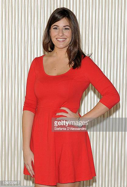 Actress Diana Del Bufalo attends Matrimonio A Parigi Photocall at Terrazza Martini on October 20 2011 in Milan Italy