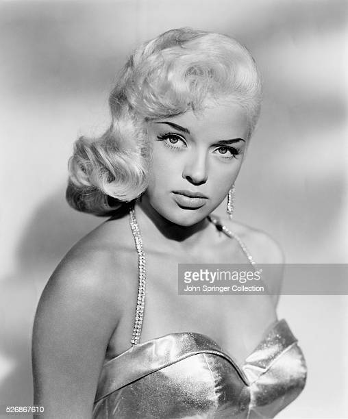 Actress Diana Dors around the time of her completion of the 1957 movie The Unholy Wife and the 1958 movie I Married a Woman.