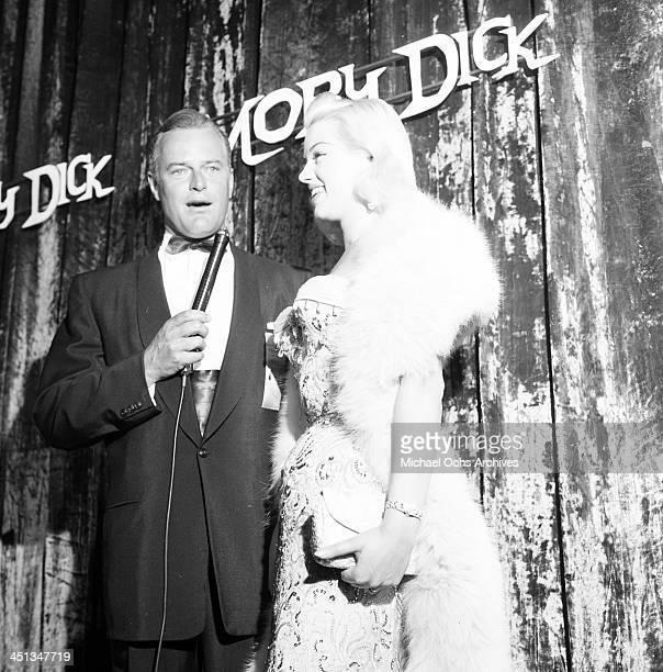 Actress Diana Dors attends Moby Dick premiere party in Los Angeles California