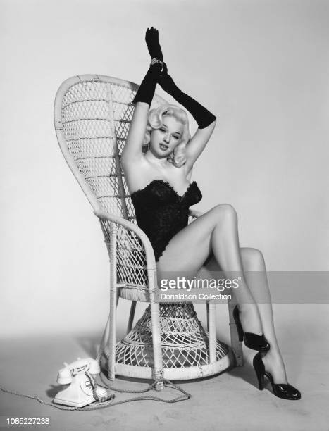"""Actress Diana Dors in a scene from the movie """"As Long as They're Happy"""""""