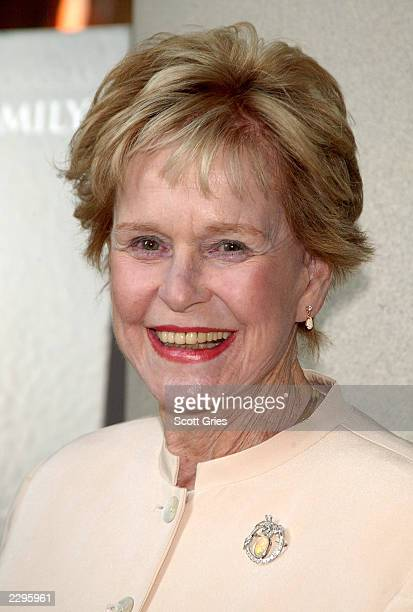 """Actress Diana Douglas arrives at the New York premiere of """"It Runs in the Family"""" at the Loews Lincoln Square Theaters April 13, 2003 in New York..."""