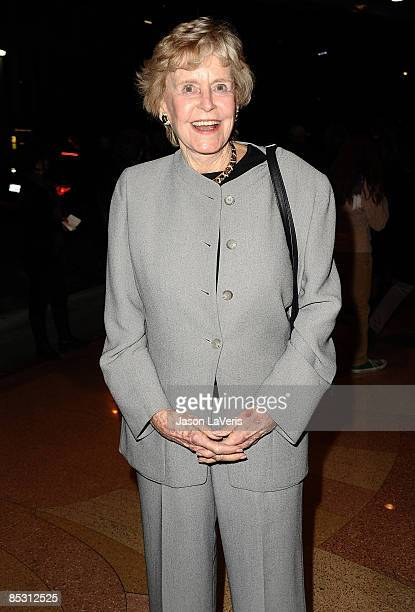 Actress Diana Douglas attends Kirk Douglas' one man show Before I Forget at The Kirk Douglas Theatre on March 6 2009 in Culver City California