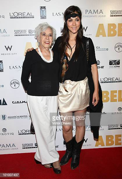 Actress Diana Garcia and her grandma Urbiola attend the Abel Mexico City Premiere at Cinemark Reforma 222 on May 25 2010 in Mexico City Mexico