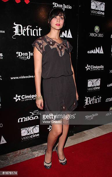 Actress Diana Garcia attends the Deficit premiere at Cinepolis Diana on May 26 2008 in Mexico City Mexico