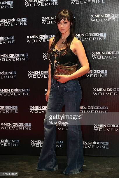 Actress Diana Garcia attends the premiere of XMen Origins Wolverine at the Auditorio Nacional on May 26 2009 in Mexico City Mexico