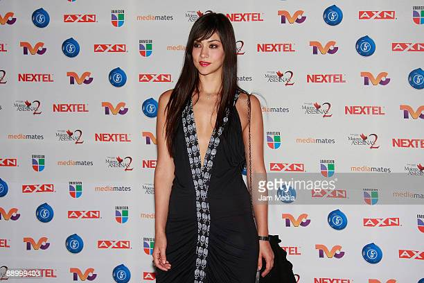 Actress Diana Garcia poses for a photo during the premiere of the television series 'Mujeres Asesinas' second season at the facilities of San Angel...