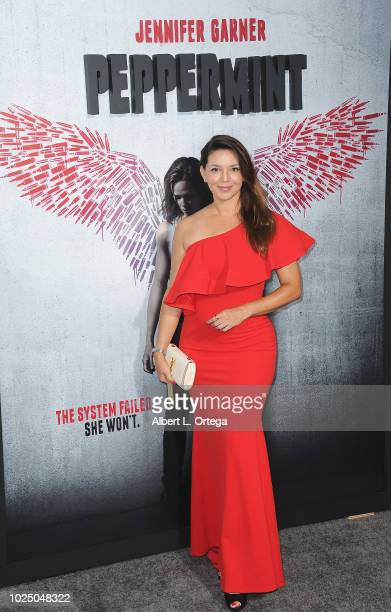 Actress Diana Hernandez arrives for the Premiere Of STX Entertainment's Peppermint held at Stadium 14 on August 28 2018 in Los Angeles California