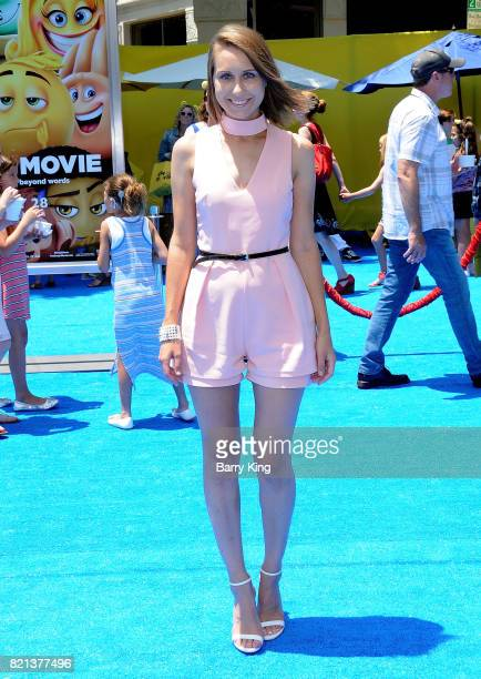 Actress Diana Marks attends the premiere of Columbia Pictures and Sony Pictures Animations' The Emoji Movie' at Regency Village Theatre on July 23...