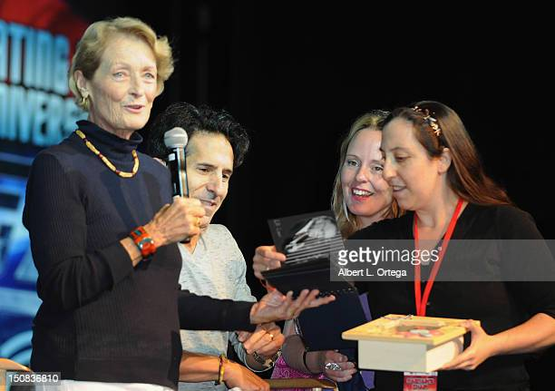 Actress Diana Muldaur and Creation CEo Adam Malin participate in the 11th Annual Official Star Trek Convention day 2 held at the Rio Hotel Casino on...