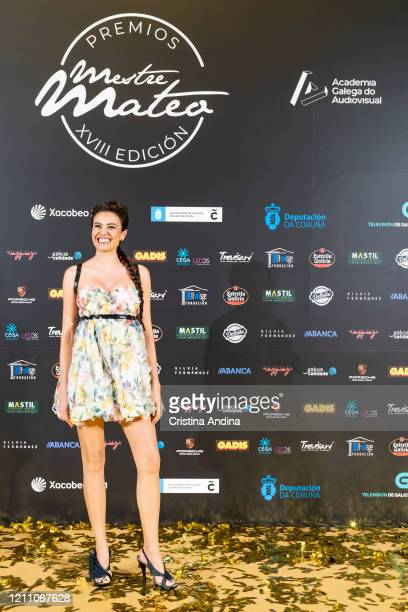 Actress Diana Nogueira attends the Mestre Mateo Awards in A Coruna on March 07 2020 in A Coruna Spain