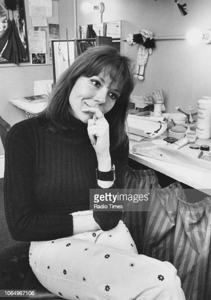 Actress Diana Rigg pictured in her dressing room March 27th 1973