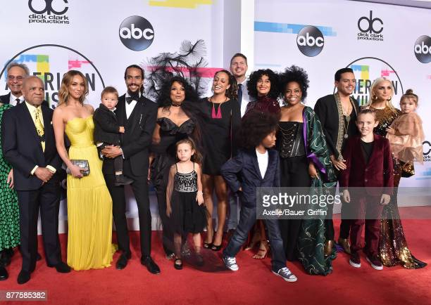 Actress Diana Ross and family arrive at the 2017 American Music Awards at Microsoft Theater on November 19 2017 in Los Angeles California