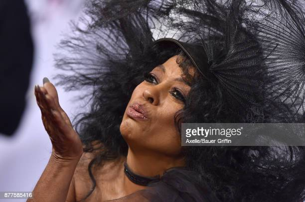 Actress Diana Ross arrives at the 2017 American Music Awards at Microsoft Theater on November 19 2017 in Los Angeles California