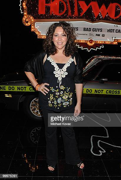 """Actress Diana-Maria Riva attends """"The Good Guys, Bad Guys, Hot Cars"""" exhibition opening reception at Petersen Automotive Museum on May 18, 2010 in..."""