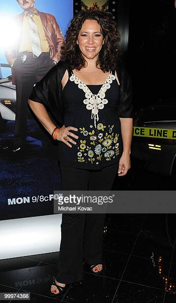 """Actress Diana-Maria Riva attends the opening reception for """"The Good Guys, Bad Guys, Hot Cars"""" exhibition at Petersen Automotive Museum on May 18,..."""