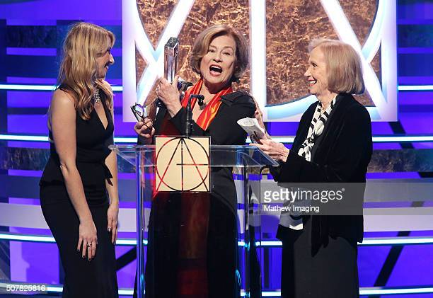 Actress Diane Baker and actress Eva Marie Saint speak on stage at the 20th Annual Art Directors Guild Excellence In Production Design Awards at The...