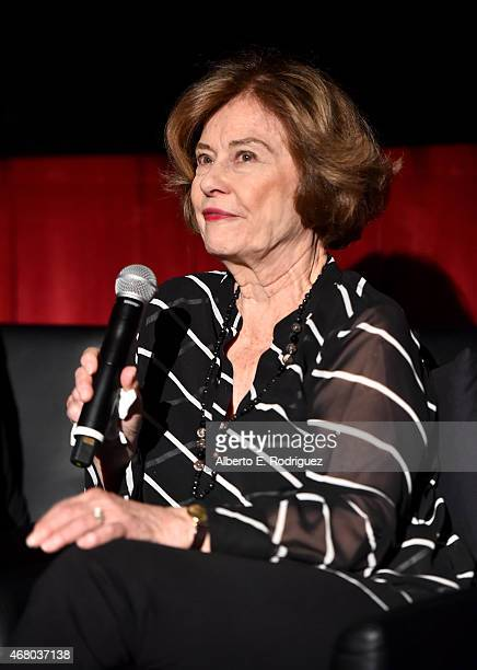 Actress Diane Baker speaks onstage before the screening of 'The Diary of Anne Frank' during day four of the 2015 TCM Classic Film Festival on March...