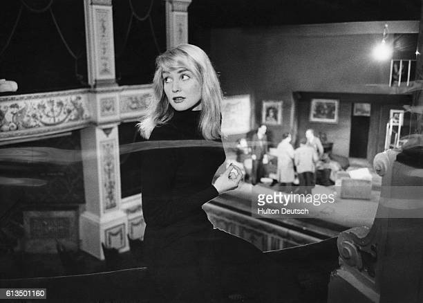 Actress Diane Cilento at the Duke of York's Theatre 1954