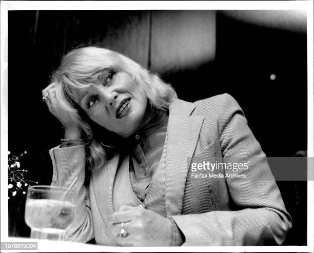 Actress Diane Cilento photograhed during an interview at Sebel Town Hse today June 7 1984
