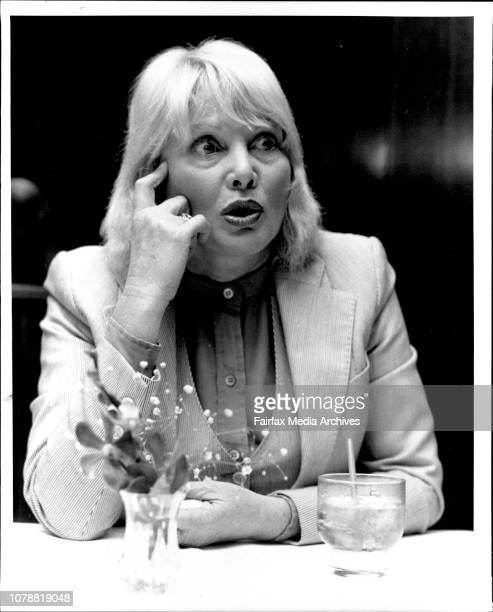 Actress Diane Cilento photographed during an interview at Sebel Town Hse today June 7 1984