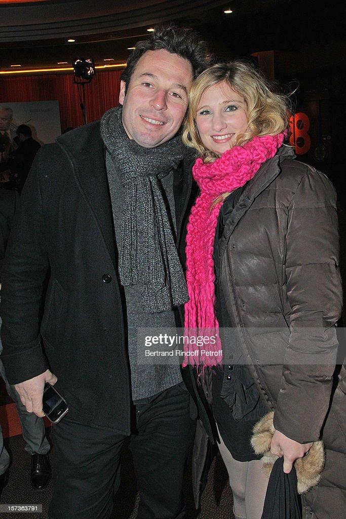 Actress Diane Dassigny (R) and photographer Pable De Selva attend the Paris Premiere of the movie 'Mais Qui A Re Tue Pamela Rose', at Cinema Gaumont Marignan on December 2, 2012 in Paris, France.