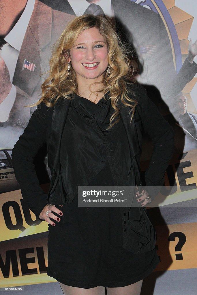 Actress Diane Dassigny attends the Paris Premiere of the movie 'Mais Qui A Re Tue Pamela Rose', at Cinema Gaumont Marignan on December 2, 2012 in Paris, France.
