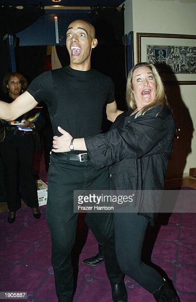 Actress Diane Delano and choreographer Billy Blanks Jr attend the after party of the weSPARKLE Variety Night Take II Cancer event at the El Portal...
