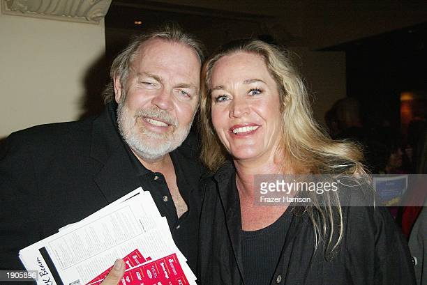Actress Diane Delano poses for a picture with Director Dan Guntzelma as they attend the after party of the weSPARKLE Variety Night Take II Cancer...