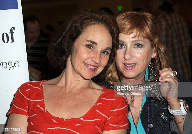 Actress Diane Franklin and actress Kimmy Robertson participate in The Hollywood Show held at Westin LAX Hotel on July 13 2013 in Los Angeles...