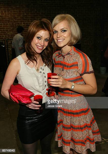 Actress Diane Gaeta and Alex Prager attend the Confederacy Hearts Rag and Bone cocktail party held at Confederacy on November 18 2008 in Los Angeles...