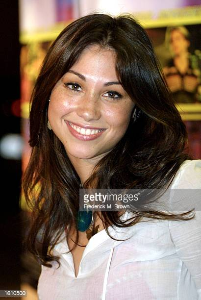 Actress Diane Gaeta attends the premiere of the film Speedway Junky August 27 2001 in Los Angeles CA