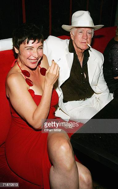 Actress Diane Goldner and actor Clu Gulager are seen during the after party at the Little Buddha restaurant following the premiere of the movie...
