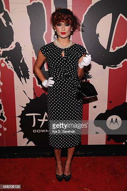 Actress Diane Guerrero attends Moto X presents Heidi Klum's 15th Annual Halloween Party sponsored by SVEDKA Vodka at TAO Downtown on October 31 2014...