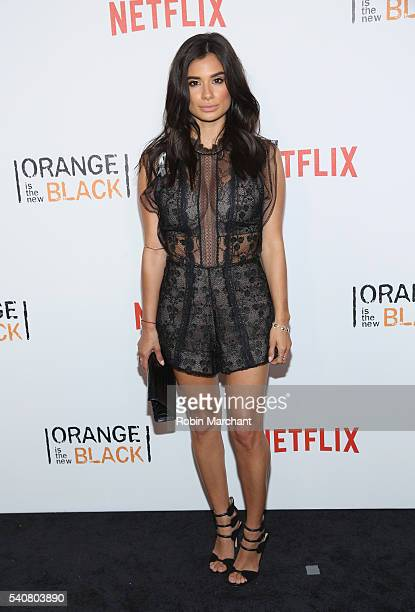 Actress Diane Guerrero attends 'Orange Is The New Black' New York City Premiere at SVA Theater on June 16 2016 in New York City