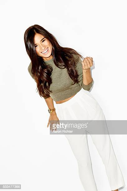 Actress Diane Guerrero is photographed for Aritzia #FallForUs in 2014 in New York City PUBLISHED IMAGE